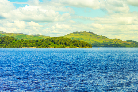 Beautiful landscape of Loch Lomond lake in Luss, Argyll&Bute in Scotland, UK