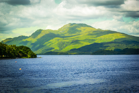 loch lomond: Beautiful landscape at Loch Lomond lake in Luss, Argyll&Bute in Scotland, UK