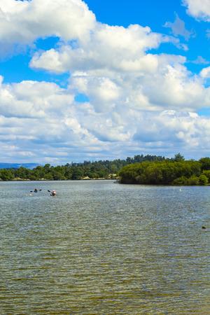 loch lomond: Water sports oncalm blue Loch Lomond lake in Scotland