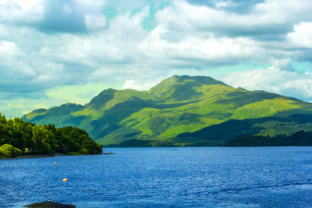 scotish: Beautiful landscape at Loch Lomond lake in Luss, Argyll&Bute in Scotland, UK