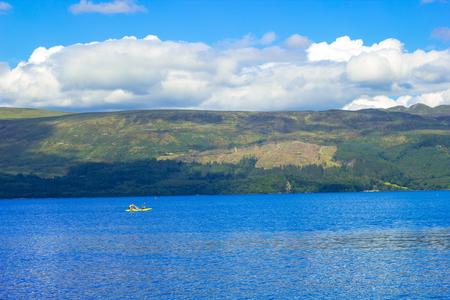 loch lomond: Beautiful summer landscape at Loch Lomond in Luss, Scotland, UK