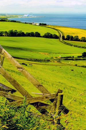 Scottish summer landscape, East Lothians, Scotland, UK Stock Photo
