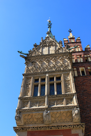 historical architecture: Old, Historical architecture in Wroclaw, City Centre, Old Town.