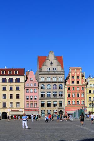 polen: WROCLAW, POLAND - 12.09.2016: Old Town, Market Square, Poland, Europe.