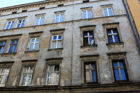 silesia: Architecture of Wroclaw, Poland, Europe. City centre, Old, historical tenements.Lower Silesia, Europe.