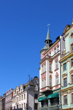 Architecture of Wroclaw, Poland, Europe. City centre, Colorful, historical Market square tenements.Lower Silesia, Europe.