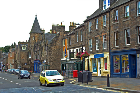 scottish culture: Streets of Linlinthgow, Scotland, UK, 06.08.2015