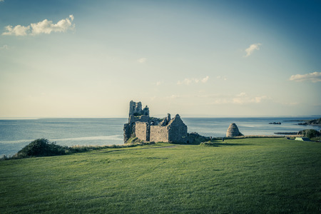 Ruins of Dunure Castle, Ayrshire, Scotland, UK Stock Photo