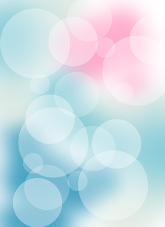 Soft, abstract, pastel background with bokeh lights for various designs in subtle blue, pink and white