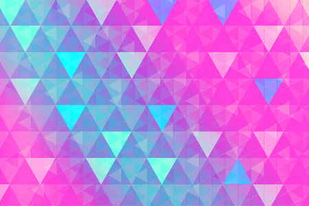 Colorful, geometric background with colorful triangles trendy pattern