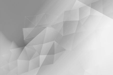 Polygonal, geometric white and grey background Stockfoto