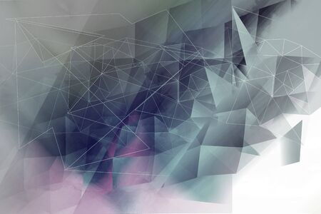 Polygonal, geometric white and grey background Standard-Bild - 128779374