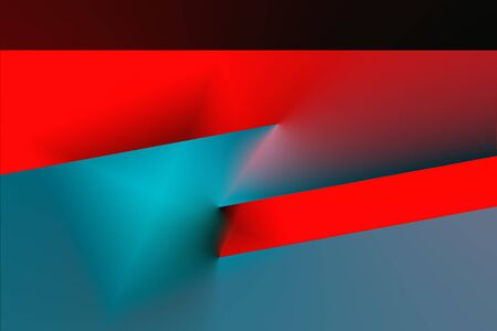 Green and red, abstract, simplistic, 3d background
