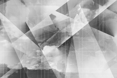 Abstract, dynamic, 3d grey and white artistic background