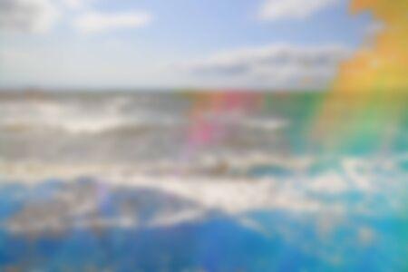 Dreamy, gradient, beautiful colors seaside, ocean background
