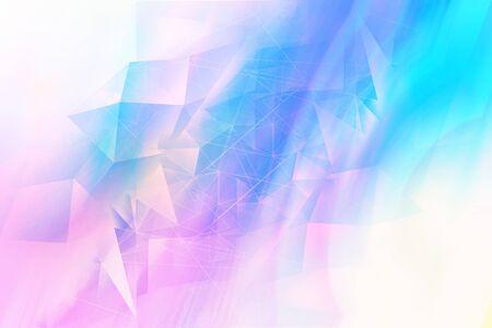 Trendy dreamy, abstract, fantasy 3d multicolour, geometric background 版權商用圖片