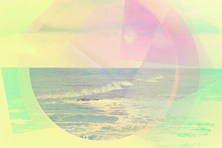 Mínimo, colorido, pastel abstracto, fondo geométrico