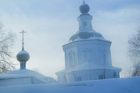 Landscape with old churches in Kostroma, Russia Stock Photo