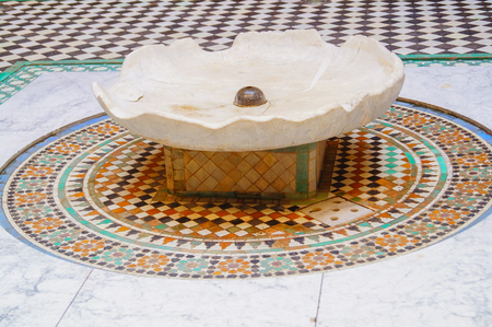 fountain in morocco old antique construction mousque palace