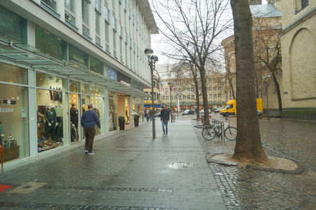 Street of COLOGNE GERMANY- December 29, 2017