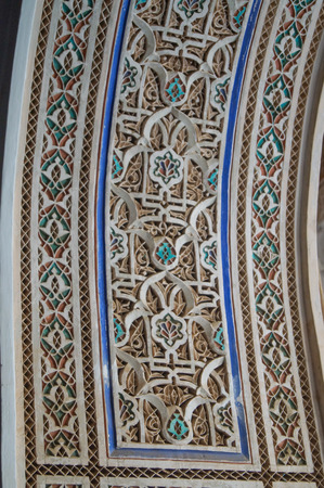 Pattern in Moroccan style Islamic traditional ornament background