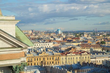 View of St. Petersburg from the colonnade of St. Isaacs Cathedral. 版權商用圖片