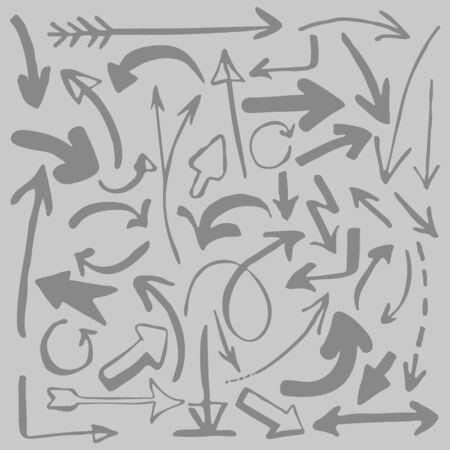 Vector illustration. Set of different arrows Ilustração