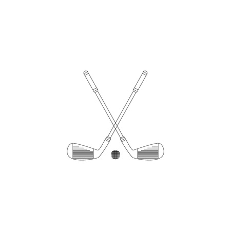 Golf Club icon. Vector illustration isolated on white background.