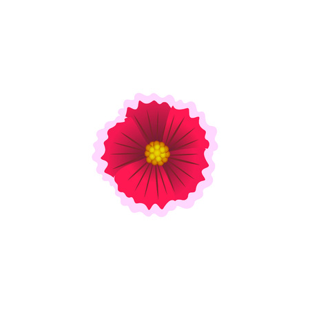 Beautiful flower isolated on white background. Vector illustration.