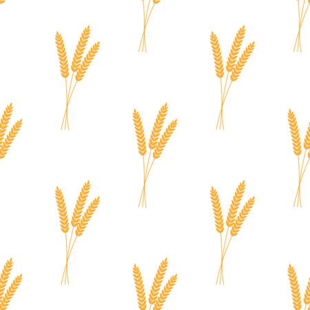 Seamless pattern. Illustrazione vettoriale. Progettazione dell'illustrazione dell'icona di vettore del fondo del grano di agricoltura
