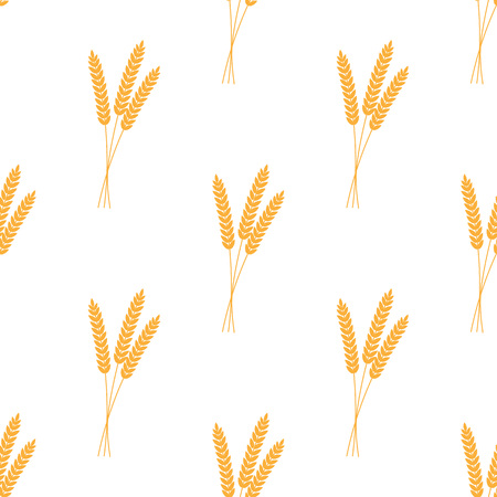 Seamless pattern. Vector illustration. Agriculture wheat Background vector icon Illustration design
