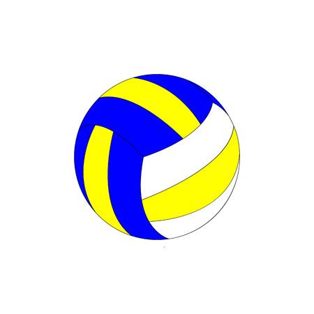 Icône colorée de ballon de volley-ball isilated sur fond blanc. style plat.