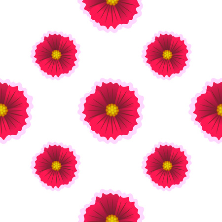 Beautiful flower isolated on white background. Vector illustration. Seamless flower pattern.