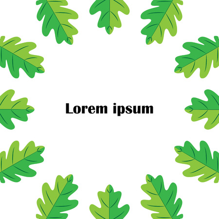 Flat Icon of oak leaf on white background. round, circle design.