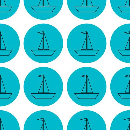 seamless pattern sailing ships icon vector illustration Stock Vector - 114269811