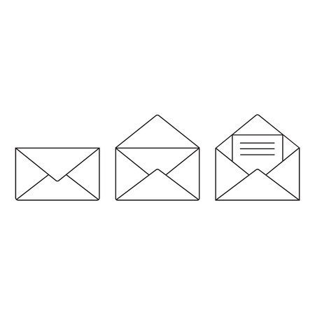 Email icon vector, Envelope sign, Mail symbol. Line style