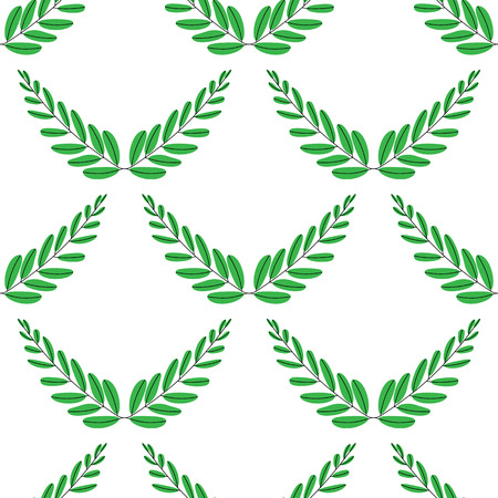 Branches of olives, symbol of victory, vector illustration, flat. Seamless pattern. 矢量图像