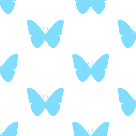 Seamless pattern. Colourful butterfly on white background. Pattern for wraping paper, gifts, textile.