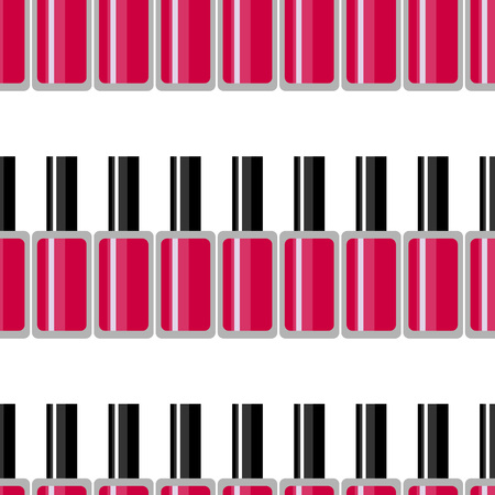Cosmetic seamless vector pattern. Nail polish texture. Summer neon background. Fashion background with nail polish.