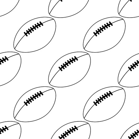 american football icon isolated on white background. vector illustration. line style. simple sport element. Seamless american football pattern.