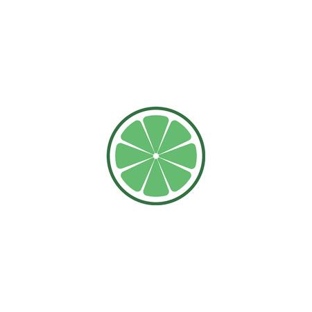 Lime logo, sign, symbol, object. Isolated lime on white background. EPS 10 Vector illustration