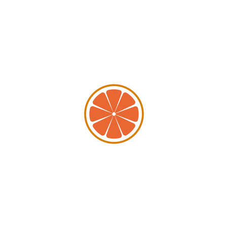 Fresh red grapefruit vector illustration on white background