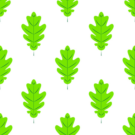 Seamles pattern. Flat Icon of oak leaf on white background. eps10 Banco de Imagens - 125052843