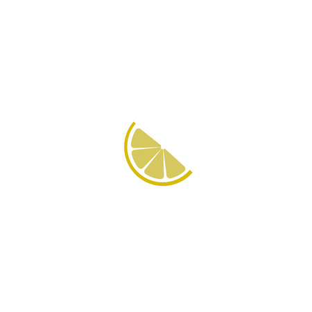 Lemon slice citrus flat vector icon for apps and websites isolated on white background. Stock Illustratie