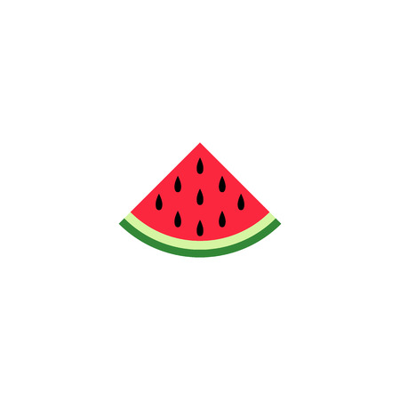 vector water melon, watermelon slice fruit illustration, fresh healthy food organic natural food isolated eps10