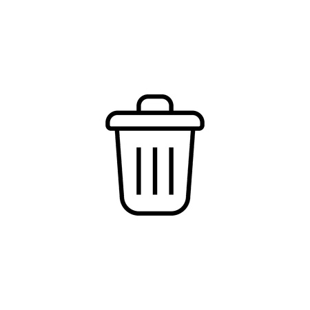Trash Simple vector icon. Illustration symbol design template for web mobile UI element. Trash icons for your business project Banque d'images - 123254737