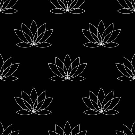 Water lily flower icon. Simple illustration of water lily flower vector icon for web. seamless pattern