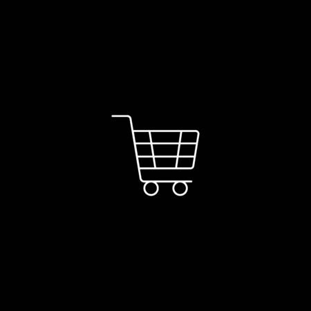 Shopping Cart Icon. Online Market Illustration As A Simple Vector Sign, Presented on Glyph Style and Trendy Symbol for Design, Websites, Presentation or Mobile Application. Çizim