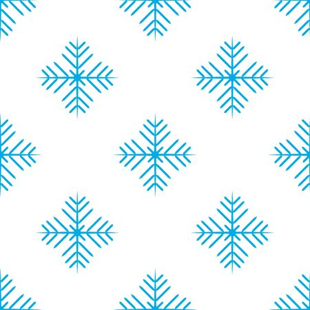 Vector seamless pattern with snowflakes. Winter holidays background. Иллюстрация