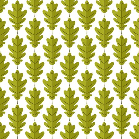 Seamless pattern. Oak leaves on white background. It can be used for printing on fabric, wallpaper and wrapping